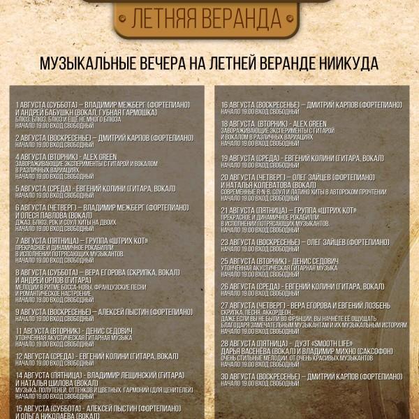 Август 2015. Летняя веранда НИИ Куда